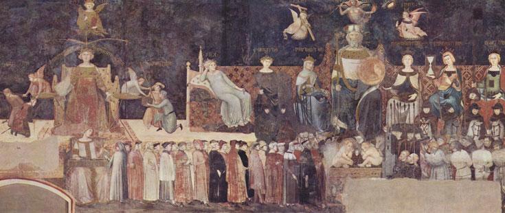 L'alégorie du bon gouvernement est fresque faisant partie d'une série peinte par d'Ambrogio Lorenzetti et placées sur les murs de la Sala dei Nove (la salle des Neuf) ou Sala della Pace (salle de la Paix) du Palazzo Pubblico de Sienne